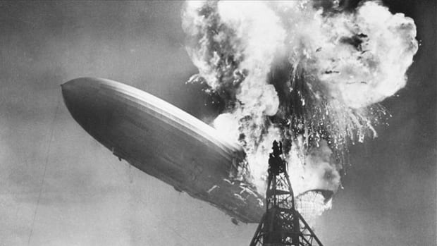 On May 6, 1937, WLS radio reporter Herb Morrison describes the arrival of the zeppelin Hindenburg at Lakehurst, New Jersey, after a three-day transatlantic voyage from Frankfurt, Germany, when the airship suddenly bursts into flames, killing 36 people.