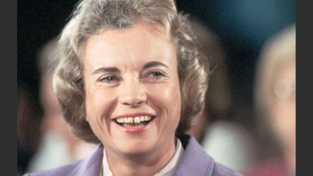 Sandra Day O'Connor, who became the first woman on the U.S. Supreme Court when she was appointed by President Ronald Reagan in 1981, speaks about her views on holy matrimony.
