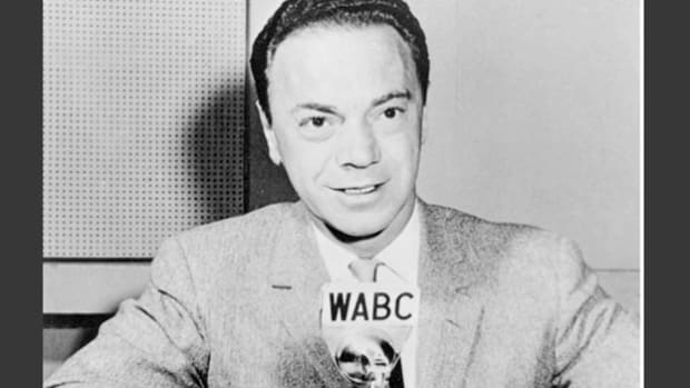 In the wake of a payola scandal, Alan Freed, the disc jockey known as Moondog, bids farewell to his fans on his final broadcast from WABC on November 23, 1959.