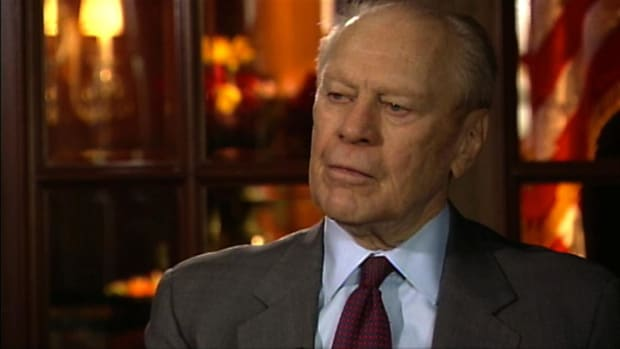 Watch this interview clip of former U.S. President, Gerald Ford, about his views on war and President Bush. He claims President Bush has many more difficult decisions to make than he did while he was in office. During the Cold War, Ford only had to deal with one man to assure peace, but President Bush needs to deal with people worldwide to assure peace. To hear more from our former U.S. President, watch this clip.