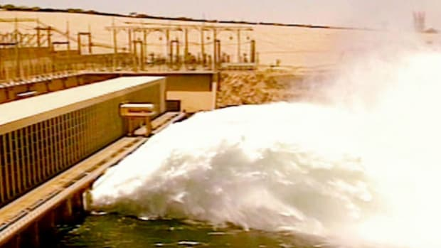 The Aswan High Dam was created in the 1960's to provide electricity in Egypt.