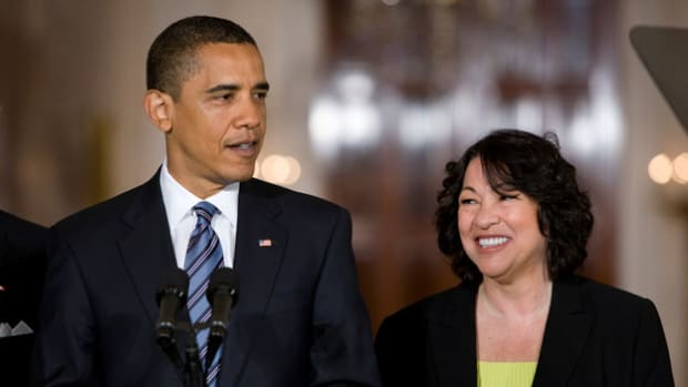 On May 26, 2009, President Barack Obama announces his nomination of Sonia Sotomayor to the U.S. Supreme Court. When Sotomayor was sworn in on August 8, she became the first Hispanic justice to serve on the Supreme Court.