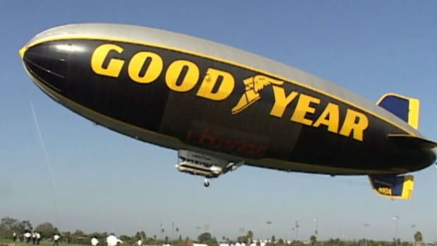 Get a bird's-eye-view of what the Goodyear Blimp pilots see from the sky.