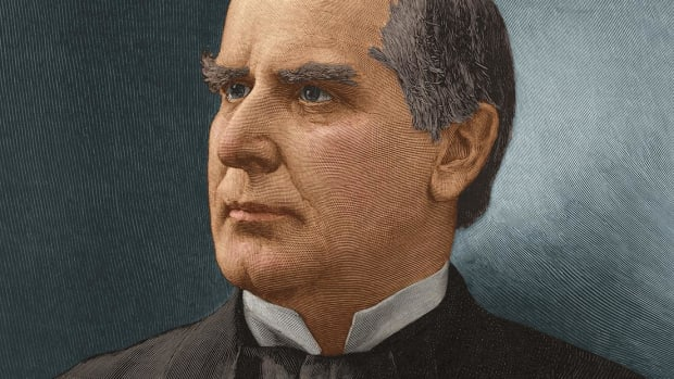 Explore the presidency of William McKinley, from his modernization of political news distribution to his war policy and assassination.