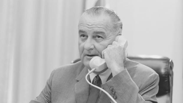 Speaking to his special assistant for national security, McGeorge Bundy, in a May 27, 1964, recorded telephone conversation, President Lyndon B. Johnson expresses his worry that the war in Vietnam is turning into another Korea.