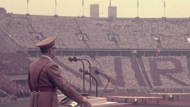 After the 1936 Olympic games, Adolf Hitler planned to build an enormous stadium.