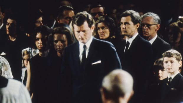 Ted Kennedy gave a passionate and sorrowful eulogy for yet another fallen brother, Robert F. Kennedy.