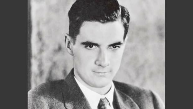 On July 20, 1938, 10 days after he took off on an around-the-world flight, Howard Hughes addresses the public about his hopes that aviation would take its rightful place among the era's technological advancements.