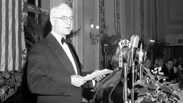 In an address delivered on October 26, 1940, U.S. Secretary of State Cordell Hull emphasizes the need to prepare for the threat of Nazi and Japanese aggression.