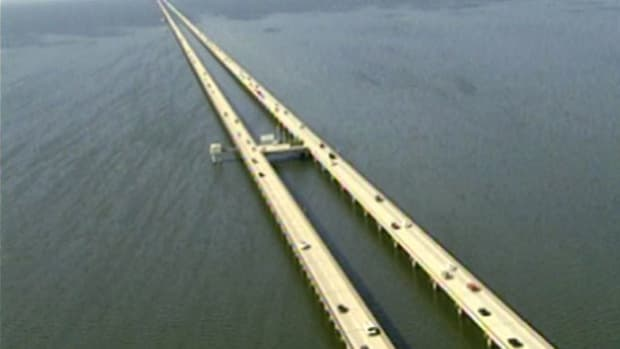 In the land of voodoo and Mardi Gras, Louisiana's Lake Pontchartrain Causeway consists of two parallel bridges, one of which is the world's longest over water. How was the project built differently from others?