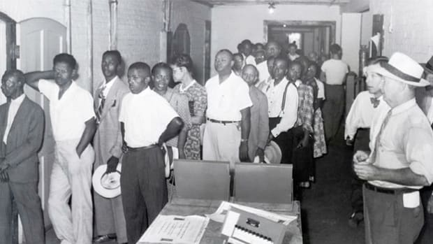 A report from Charleston, South Carolina, describes heavy voter turnout at the state's primary election on August 10, 1948. For the first time since the Reconstruction era, African-Americans were permitted to vote in a Democratic primary, after a federal judge ruled their exclusion unconstitutional.
