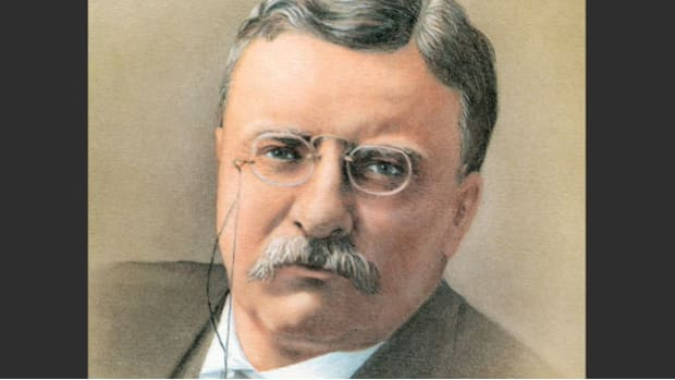 Though Theodore Roosevelt was not able to attend the meeting of the Boys' Progressive League in New York City, he made a recording of a speech on a cylinder phonograph on July 3, 1913, to be played in his absence.