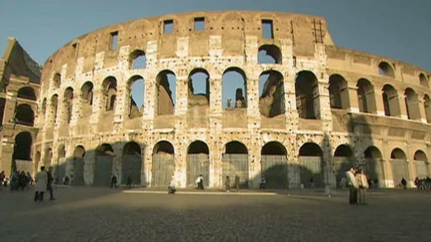 The Roman Coliseum inspired the design of many modern sports stadiums.