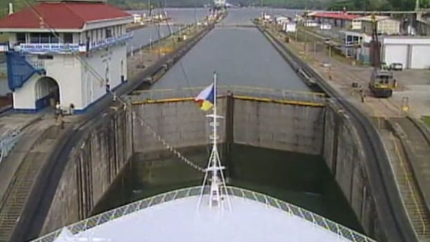 The Panama Canal allows ships to travel between the Atlantic and Pacific Oceans, saving them a long journey around the tip of South America.