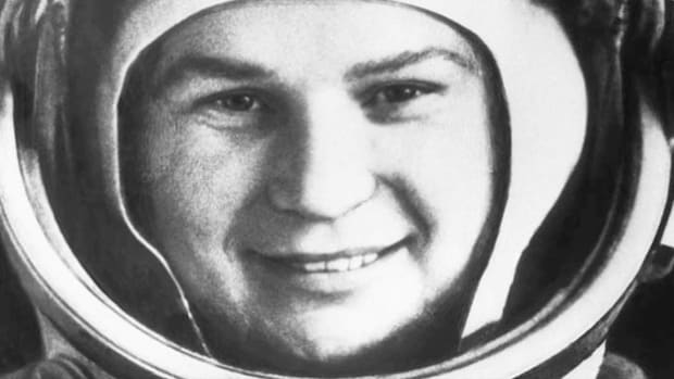 Radio Moscow announces the historic flight of the first woman in outer space. On June 16, 1963, aboard Vostok 6, Soviet cosmonaut Valentina Tereshkova completed 48 orbits of Earth in 71 hours.