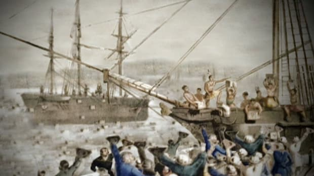 In 1771, a group of colonists protest thirteen years of increasing British oppression, by attacking merchant ships in Boston Harbor. In retaliation, the British close the port, and inflict even harsher penalties.