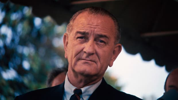 On August 4, 1964, as events in the Tonkin Gulf unfold, Secretary of Defense Robert McNamara apprised President Lyndon B. Johnson of the situation in a series of phone calls. In the third secretly recorded phone call of the day, McNamara reports that two U.S. destroyers deployed in the Gulf east of Vietnam are under attack. While McNamara did not know it at the time, the information he relayed was later determined to be false.