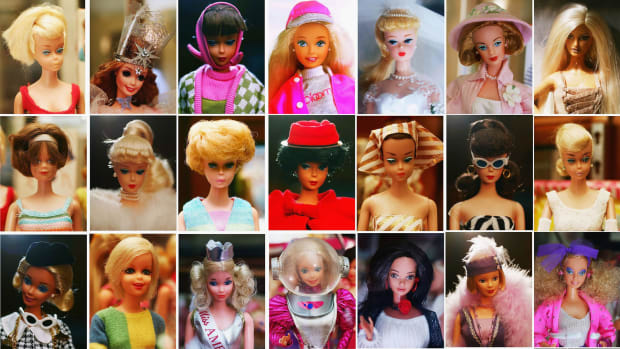 "On this day in 1959, the first Barbie doll goes on display at the American Toy Fair in New York City. Eleven inches tall, with a waterfall of blond hair, Barbie was the first mass-produced toy doll in the United States with adult features. The woman behind Barbie was Ruth Handler, who co-founded Mattel, Inc. with her husband in 1945. After seeing her young daughter ignore her baby dolls to play make-believe with paper dolls of adult women, Handler realized there was an important niche in the market for a toy that allowed little girls to imagine the future. Barbie's appearance was modeled on a doll named Lilli, based on a German comic strip character. Originally marketed as a racy gag gift to adult men in tobacco shops, the Lilli doll later became extremely popular with children. Mattel bought the rights to Lilli and made its own version, which Handler named after her daughter, Barbara. With its sponsorship of the ""Mickey Mouse Club"" TV program in 1955, Mattel became the first toy company to broadcast commercials to children. Over the years, Barbie generated huge sales--and a lot of controversy. On the positive side, many women saw Barbie as providing an alternative to traditional 1950s gender roles. She has had a series of different jobs, from airline stewardess, doctor, pilot and astronaut to Olympic athlete and even U.S. presidential candidate. Others thought Barbie's never-ending supply of designer outfits, cars and ""Dream Houses"" encouraged kids to be materialistic. It was Barbie's appearance that caused the most controversy, however. Her tiny waist and enormous breasts--it was estimated that if she were a real woman, her measurements would be 36-18-38--led many to claim that Barbie provided little girls with an unrealistic and harmful example and fostered negative body image. Despite the criticism, sales of Barbie-related merchandise continued to soar, topping 1 billion dollars annually by 1993."