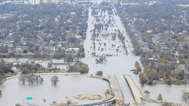 A November 29, 2005, report of the year's hurricane season singles out Katrina, the category-3 storm that hit the Gulf Coast on August 29, as the most destructive hurricane in U.S. history.