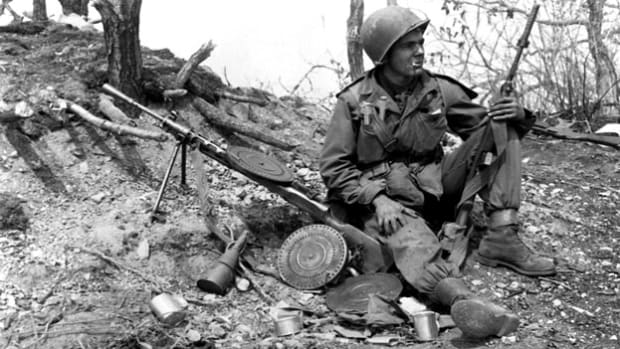 On July 10, 1950, at a meeting of the United Nations Security Council, Ambassador Warren R. Austin reports on North Korea's refusal to retreat from its armed invasion of the Republic of Korea. By the end of the session, the U.N. officially supported sending U.S. forces into Korea.