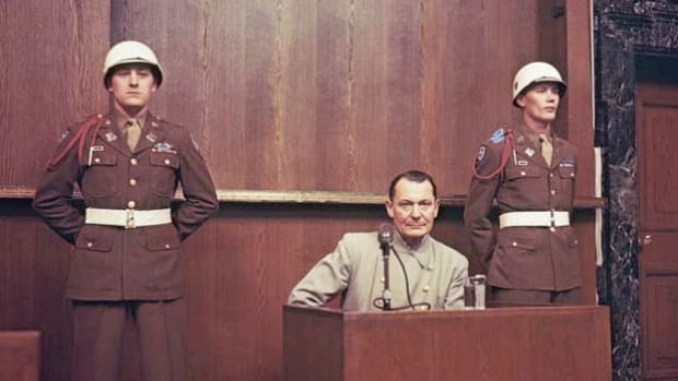 On October 1, 1946, the verdicts of two top Nazi war criminals tried at Nuremberg, Hermann Wilhelm Goering and Rudolf Hess, are announced.