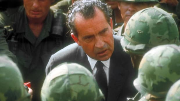 "In 1968, Richard Nixon ran on a platform for the  presidency that included a ""secret plan"" to end the war in Vietnam."