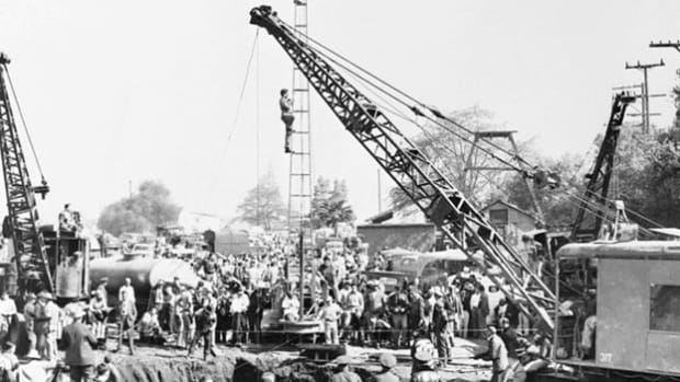 On April 8, 1949, 3-year-old Kathy Fiscus fell into an abandoned well in San Marino, California. A large rescue effort was immediately undertaken. The fate of the 3-year-old captures the nation's attention as the event unfolds live on radio and television.