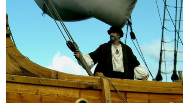 During his fourth voyage Columbus was forced to take refuge in a cove off the shores of Hispaniola.