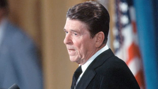 On October 23, 1983, a Lebanese terrorist drove a truck packed with more than 2,000 pounds of explosives into the U.S. Marine barracks in Beirut, killing 241 U.S. military personnel. The next day, President Ronald Reagan holds a press conference to discuss the situation.