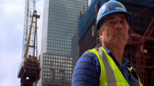 Brian Lyons went to Ground Zero as a recovery worker and now he is part of the rebuilding project.