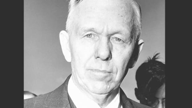 On June 5, 1947, Secretary of State George C. Marshall gives a speech at Harvard University initiating the postwar program to rebuild the economies of western Europe, known as the Marshall Plan.
