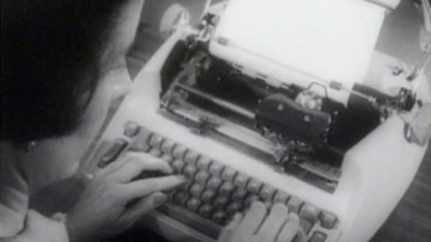 In the early 1960s, the electric typewriter represented the latest in typewriter technology.