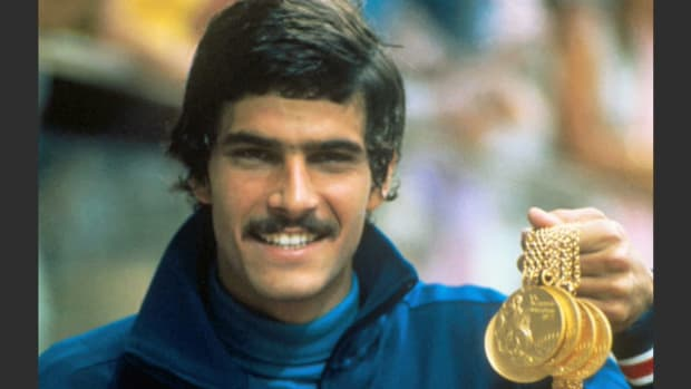 Midway through the competition, American swimmer Mark Spitz is featured in a profile and comments on his game plan for the remainder of the races. Spitz went on to give a perfect performance, winning seven gold medals and setting seven world records in seven events.