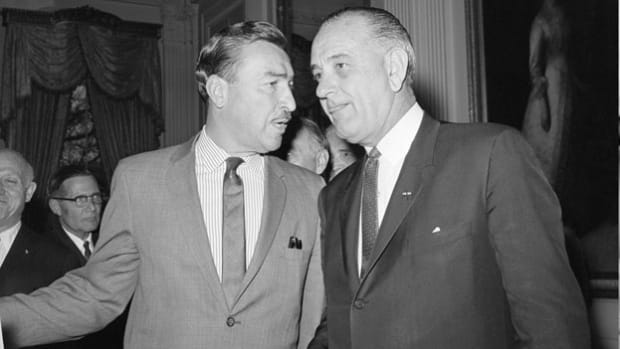 In a heated telephone conversation on March 1, 1965, President Lyndon B. Johnson accuses Adam Clayton Powell of holding up the passage of an education bill.