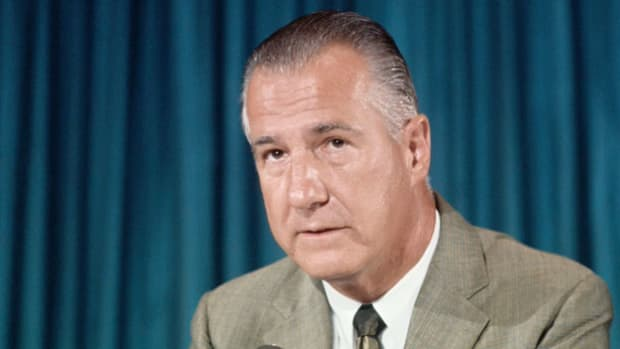 On October 15, 1969, millions took part in the Vietnam Moratorium, a nationwide demonstration against the war in Vietnam. Four days later, in a speech delivered in New Orleans, Vice President Spiro Agnew causes a controversy when he attacks the supporters of the moratorium.