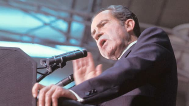 "While campaigning for reelection in 1972, President Richard M. Nixon promises to end the war in Vietnam in such a way as to ensure a ""a full generation of peace."""