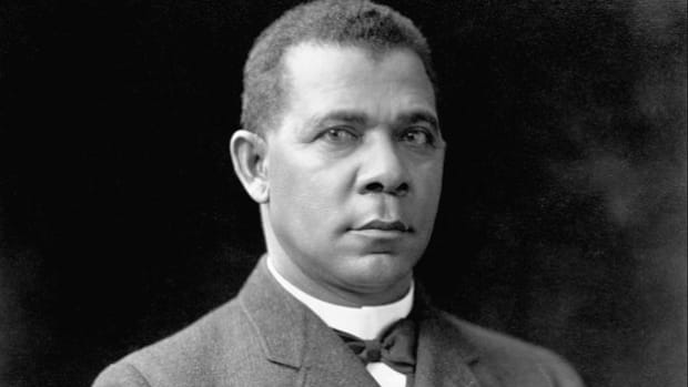 "On September 18, 1895, at the Atlanta Exposition, Booker T. Washington rises to national fame when he delivers what came to be known as his ""Atlanta Compromise"" speech, in which he advocates for the races to work together while remaining separate socially."