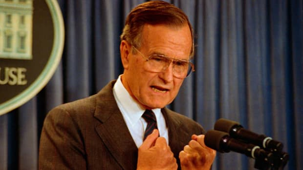 On December 20, 1989, after a U.S. soldier was killed in Panama by Manuel Noriega's forces, President George H.W. Bush sent U.S. troops into the Central American country in an effort to oust the dictator. In an address to the nation, Bush explains his decision to call for military action.