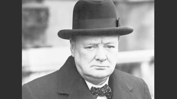 "In one of his greatest speeches, delivered first before the House of Commons on June 18, 1940, and then broadcast to the nation, Winston Churchill inspires his countrymen to soldier on after the fall of France, assuring them that if Great Britain upholds its duty to fight, ""men will still say, 'This was their finest hour.' """
