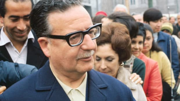 "On September 4, 1970, Salvador Allende became the first Marxist to be democratically elected the leader of a Latin-American nation. Because he received only a plurality of votes, his presidential election had to be confirmed. In an interview about the tallying of votes, Allende takes offense when he is asked a question he considers ""slightly impertinent."""