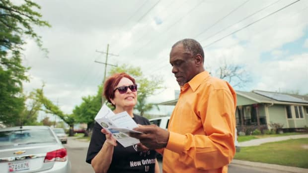 Robert Green lost his mother and granddaughter when his Ninth Ward home was lifted off its foundation and floated down the street in the aftermath of Hurricane Katrina. After rebuilding several years later, Green has made it his life's mission to bring the Ninth Ward residents back and rebuild their historic community.