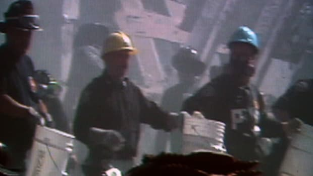 Over 10,000 people volunteered to aid workers during the cleanup and recovery of Ground Zero.