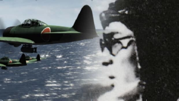 On October 25, 1944, a fierce battle raged between the United States and Japan off the coast of Samar. As the Japanese navy retreated and the battle seemed over, ace Hiroyoshi Nishizawa volunteers for a kamikaze strike.