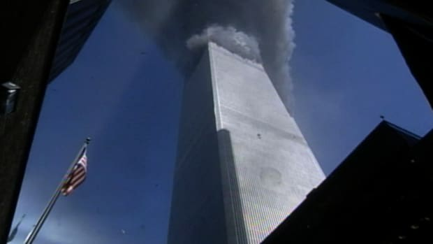 Evan Fiarbanks kept the camera rolling as WTC Building 5 was evacuated.