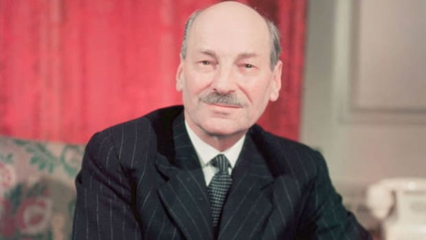 On June 19, 1946, British Prime Minister Clement Attlee appears before the United Nations General Assembly to urge support for the Baruch Plan, which would place atomic energy under international control.