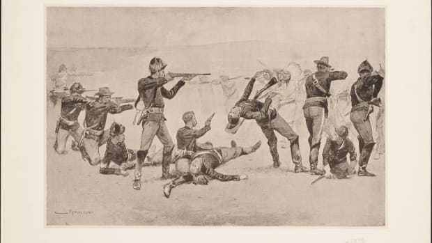 hith-the_opening_of_the_fight_at_wounded_knee_by_frederic_remington_1891-2