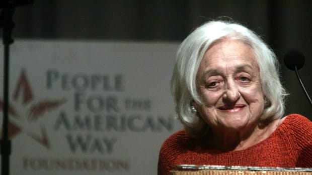 NEW YORK – SEPTEMBER 1:  Author Betty Friedan attends a reading of the U.S. Constitution at Cooper Union for the People For the American Way Foundation September 1, 2004 in New York City.  (Photo by Peter Kramer/Getty Images)