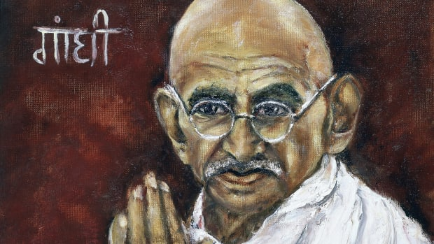 UNSPECIFIED – CIRCA 1754: Mohondas Karamchand Gandhi (1869-1948), known as Mahatma (Great Soul) Indian Nationalist leader. Painting by Renucci, 1982. Collection of Indian Ambassador, Paris. (Photo by Universal History Archive/Getty Images)