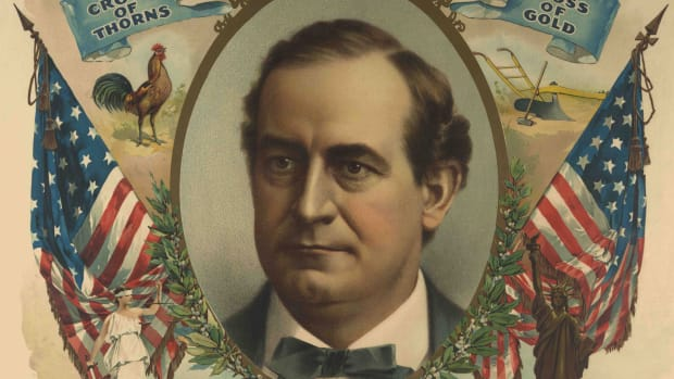 UNITED STATES – CIRCA 1900:  William Jennings Bryan campaign poster.  (Photo by Buyenlarge/Getty Images)