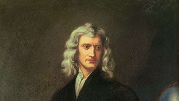 ENGLAND – JANUARY 01:  Sir Isaac Newton (1642-1727) .Canvas.  (Photo by Imagno/Getty Images) [Sir Isaac Newton (1642-1727) . Gemaelde.]